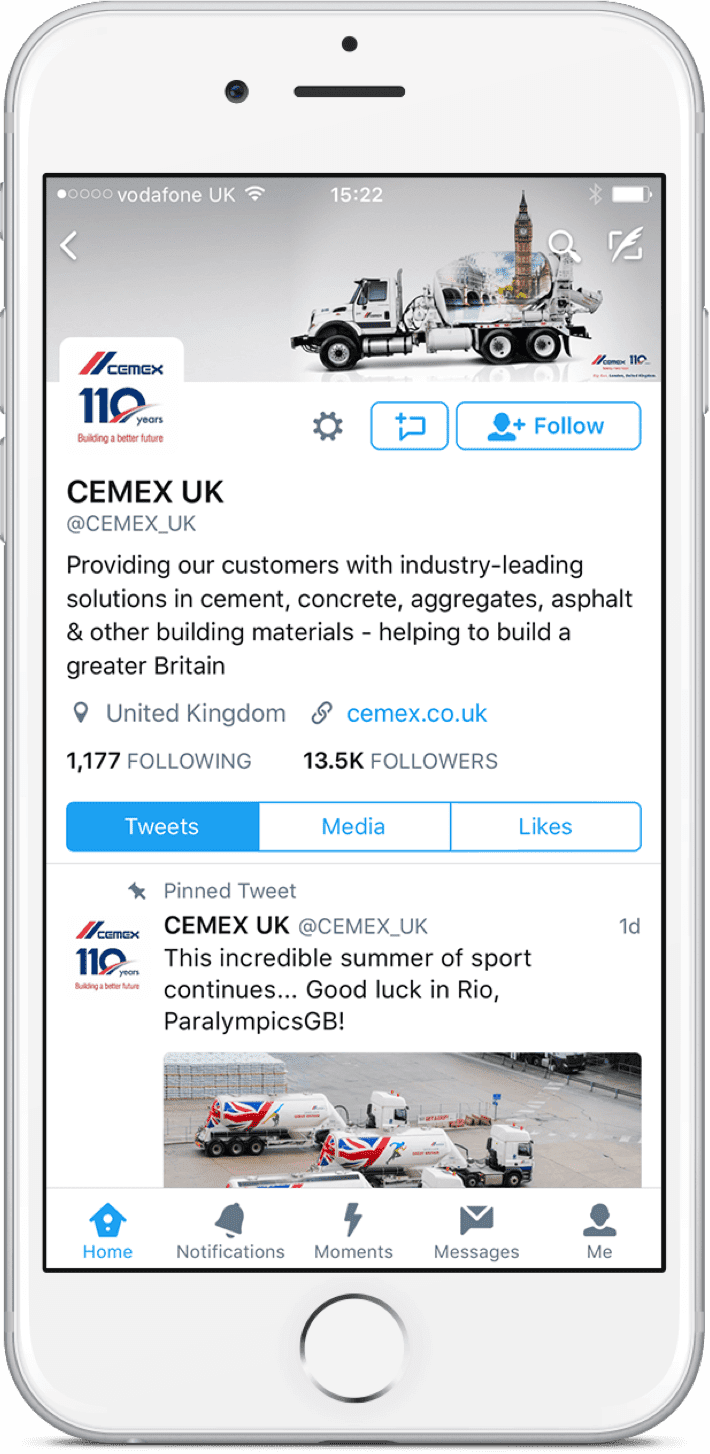 Cemex Facebook account