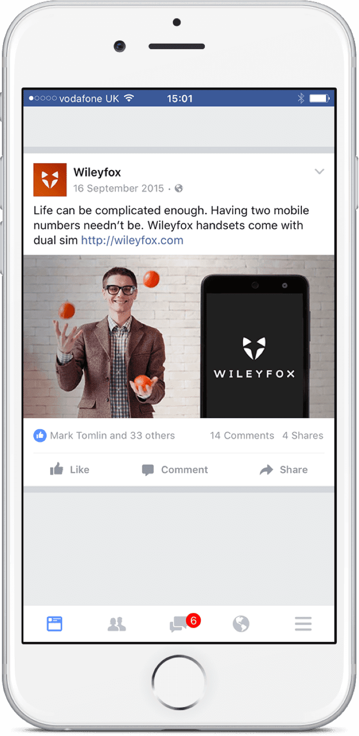 Wileyfox Facebook feed
